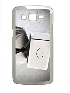 coolest cases keep smiling box PC Transparent case/cover for Samsung Galaxy Grand 2/7106