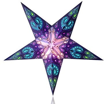 Happy Sales HSSL-FBGXYA Frozen Cosmic Bloom Paper Star Lantern Blue, ()
