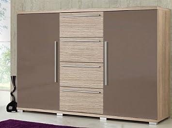 Kommode Sideboard Anrichte 520040 Eiche Sagerau Dunkel Braun