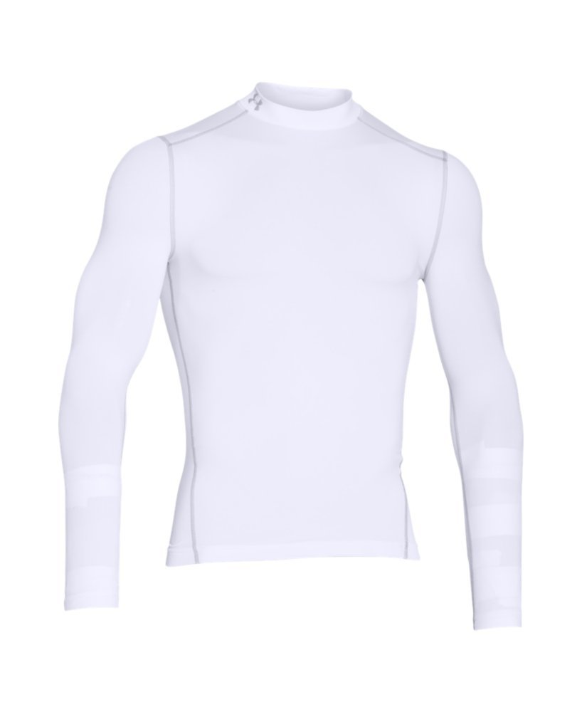 Under Armour Men's ColdGear Armour Compression Mock Long Sleeve Shirt, White (100)/Steel, XXX-Large by Under Armour (Image #4)