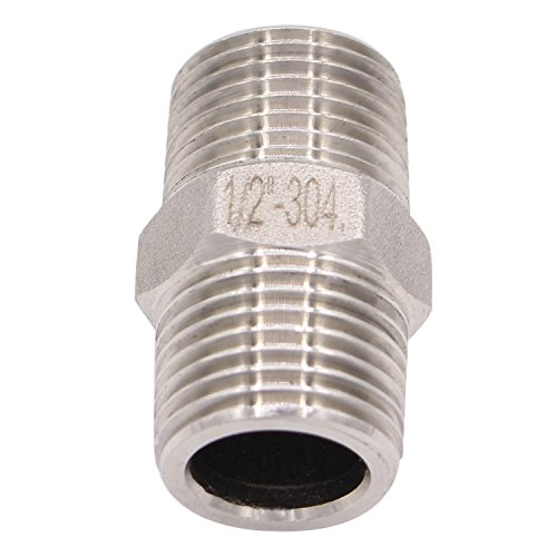 Hex Nipple 1 2 Inch Male Npt Derpipe Stainless Steel 304 Threaded Pipe Fitting For Brew Kit Home Piping Application Pack Of 1