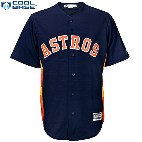 Houston Astros MLB Men's Cool Base Official Alternate Jersey Navy (Small)