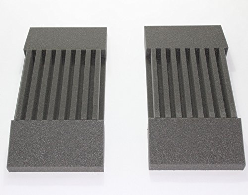 2 Pack - Decorative Acoustic Panels Studio Soundproofing Foam Wedges Wall Panels provide Baffle Kit 3' X 12' X 12' Made in Usa
