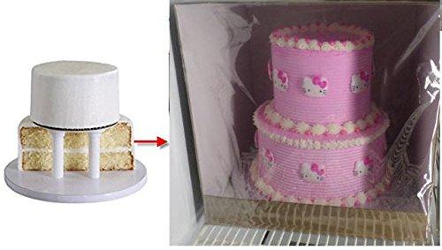 Amazon.com: Cakesupplyshop Two Tier 8inch 10inch Square Cake ...