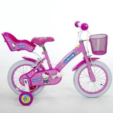 Bici Hello Kitty Jeans 14 Con Rotelle Per Bambina 4 6 Anni