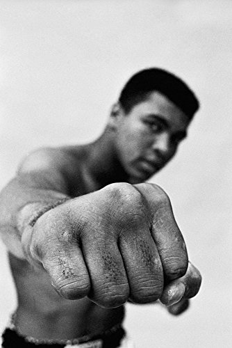 Muhammad Ali Fist Black and White Poster 24x36