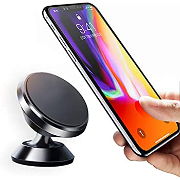 Magnetic Phone Car Mount Universal Holder Compatible with iPhone 7 8 Plus 6 6S Samsung Galaxy S9 S8 S7 S6 Note 5 6 7 Google Pixel LG GPS [Black]