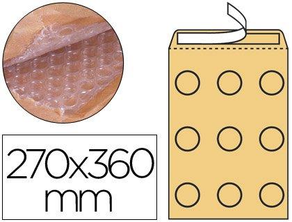 Caja lote de 50 Sobres Kraft Acolchados Burbuja Marron 270 x 360 mm