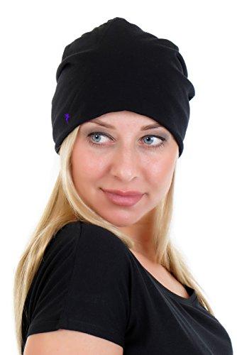Pour Bonnet Long Femme Pourpre Noir Petite De Fée Hiver Jersey Beanie Automne Cotton Enfants 3elfen dqUnxR8Wd
