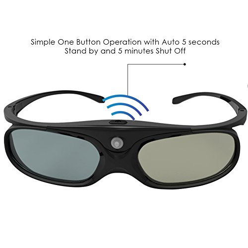 413y7B0DJKL - GooDee DLP Link 3D Glasses, Ultra-Clear HD 144 Hz 3D Active Rechargeable Shutter Glasses for 3D DLP Link Projectors-BenQ, Optoma, Dell, Mitsubishi etc-4 pack