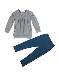 Jastore Kids Girls Clothing Set Warm Long Sleeve T-shirt +Pants Outfit