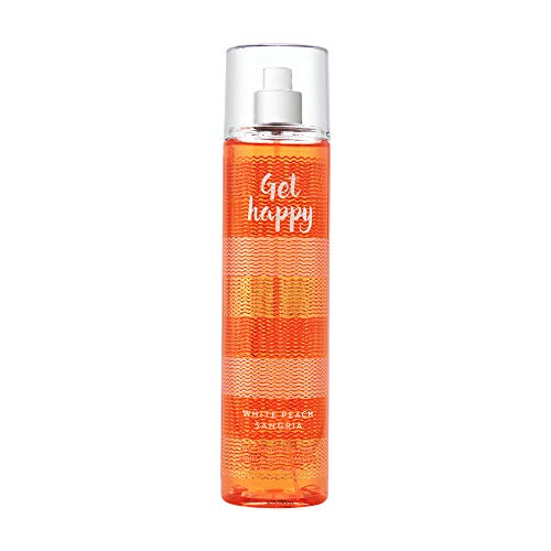 Bath & Body Works Get Happy White Peach Sangria Fine Fragrance Mist, 8 Ounce