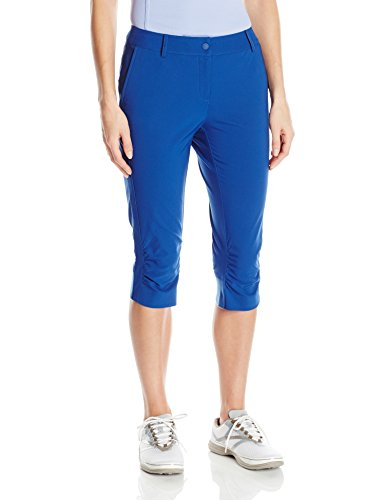Cutter & Buck Women's Moisture Wicking, UPF 50+, Stretch Morgain Long Short, Nova, 10