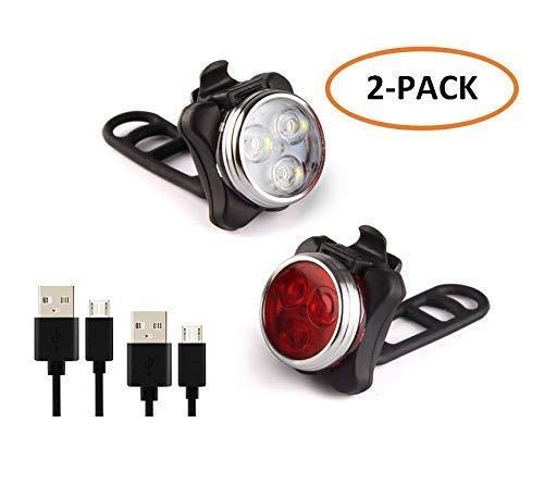 WESEEDOO Luces de Bicicleta Faros de Bicicleta USB Luces de ...