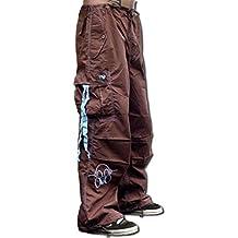Ghast Unisex Cargo Drawstring Contrast Stitching Rave Dance Pants