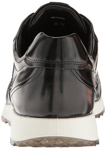 Ecco Heren Sneak Trend Fashion Sneaker Zwart Premium Leer