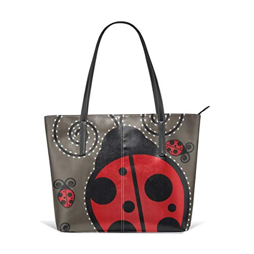 Cute Ladybug American Mojo Beach Tote Bags Travel Totes Bag Toy Tote Shopping Tote Shoulder Hand Bag For Women and Girls