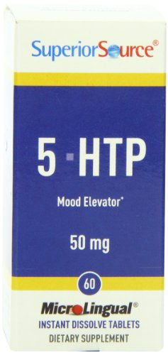 Superior Source 5-HTP suppléments nutritionnels, 50 mg, 60 comte