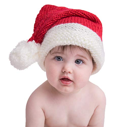 Huggalugs Baby Toddler & Adult Red Sparkle Santa Stocking Hat S