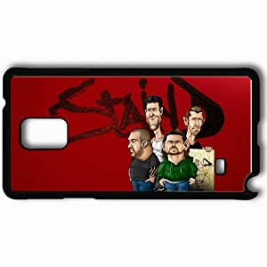 Personalized Samsung Note 4 Cell phone Case/Cover Skin Staind Black