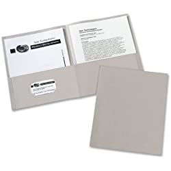 Avery Two-Pocket Folders, Gray, Box of 25 (47990)