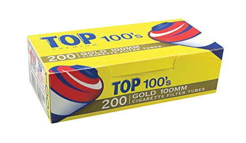 200ct Top Gold 100mm Cigarette Filter (100's 200 Cigars)