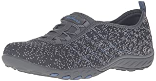Skechers Sport Women's Breathe Easy Fortune Fashion Sneaker,Charcoal/Gray Mesh/Periwinkle Trim,10 M US (B01B64A9E0) | Amazon price tracker / tracking, Amazon price history charts, Amazon price watches, Amazon price drop alerts