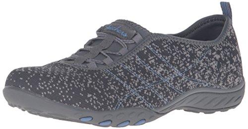Skechers Breathe-Easy Fortune Damen Sneakers  41 EUCharcoal/Gray Mesh/Periwinkle Trim