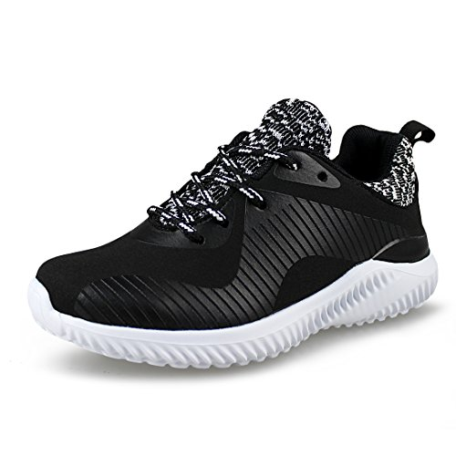 Price comparison product image Hawkwell Kids Breathable Lightweight Running Shoes for Boys Girls(Toddler/Little Kid),Black Synthetic,2 M US