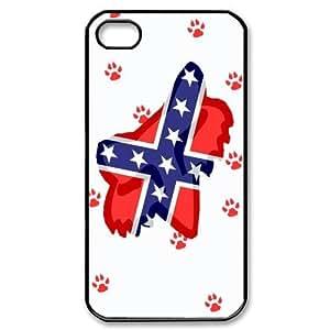 Black & White Fox Racing iPhone 4/4S Case