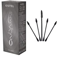 ESTEL ONLY LOOKS Professional Eyebrow Eyelash Tint Dye (Graphite) and a set of cotton swabs for a makeup artist