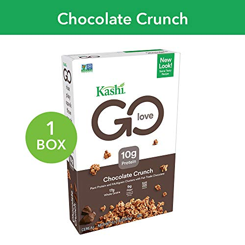 Kashi GO Chocolate Crunch Breakfast Cereal - Vegan | Non-GMO | 12.2 Oz -