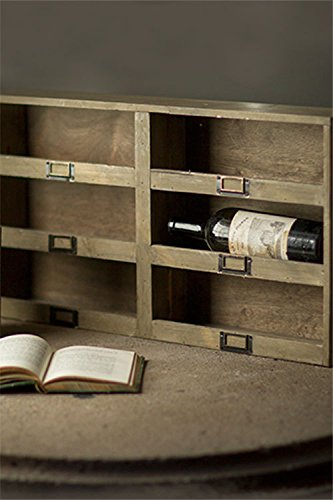 Vagabond Vintage, Recycled Pine Stacking Wine Holder with 6 Compartments and Metal Tag Holders