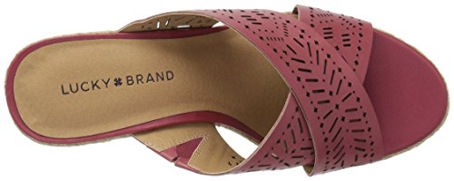 Silver Sandal Lk Keela Brand Lucky Wedge Rosewood Women's q4fzR