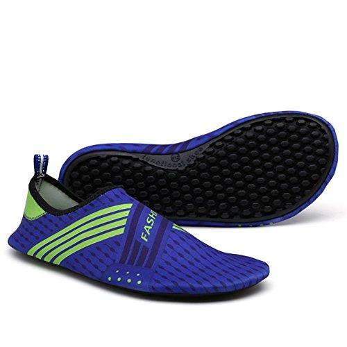Saguaro Mannen En Vrouwen Strand Zwemmen Surf Yoga Water Schoenen, Aqua Sokken Blauw