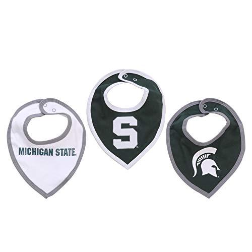 NCAA Michigan State Spartan Baby Bib Set (3 Pcs) for Boy or -