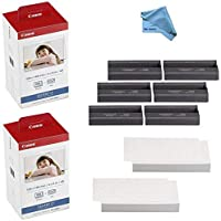 Canon KP-108IN Color Ink and Paper Set (2-Pack 216 Sheets and 6 Ink Cartridges) Compatible with SELPHY CP1300 CP1200…