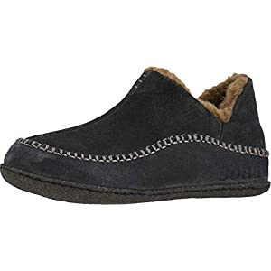 SOREL – Men's Manawan II House Slippers with Suede Upper and Wool/Polyester Lining, Buffalo/Delta, 10 M US