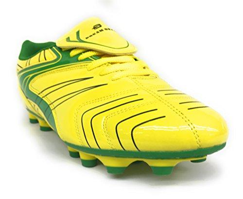 Groot Kind / Heren 87070 Atletiek Veterschoenen Voetbal Futbol Schoenen Maten 4.5-10 Neon Geel / Groen