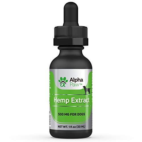 - Alpha Paw Hemp Extract 500 - Organic Hemp Oil for Dogs with Vitamins, Minerals, Omega, Iron, Olive Oil - Anxiety and Pain Relief, Anti-Inflammatory, Arthritis, Brain Health, Dry Skin, Immunity
