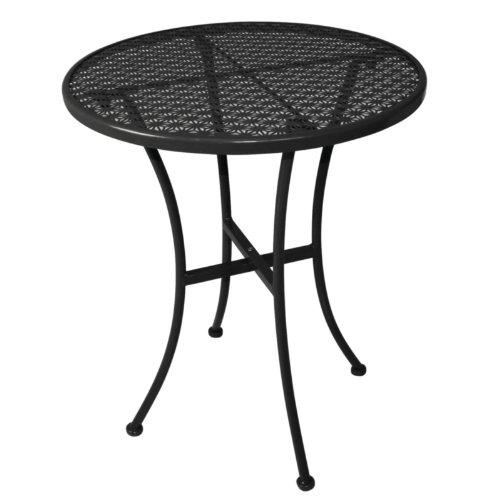 Bolero Black Steel Patterned Round Bistro Table Restaurant Bar Cafe