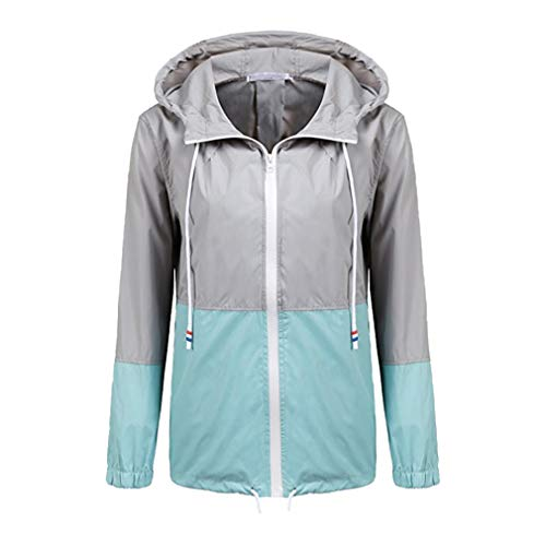 Fangcheng Leggera Trench Grigio Donna Con Blu Impermeabile Raincoats Active Outdoor Cappuccio Giacca Antipioggia ligth CUCSrx