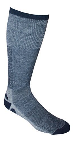 Merino Wool Tech Thin Ski and Hiking Socks (Pack of 3) - Made in USA (small - navy blue)