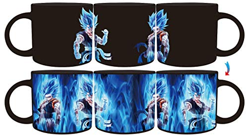 Goku Songoku Anime Cartoon Character Dragon Ball Z Goku Mug Fusion Gogetta Collectibles Heat Reactive Color Changing Mugs 16oz