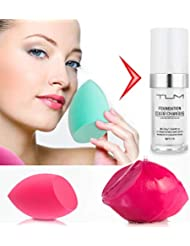 30ml TLM Color Changing Foundation Liquid Base Makeup Change To Your Skin Tone By Just Blending Change Skin Color Foundation 2pc Cosmetic Sponge Puff