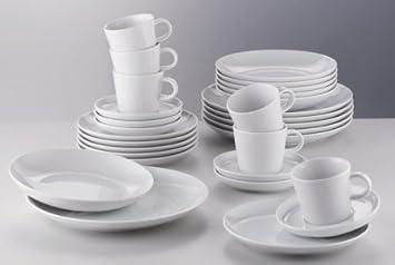Arzberg Porzellan Geschirrset Cucina Basic Weiß: Amazon.de: Küche ...