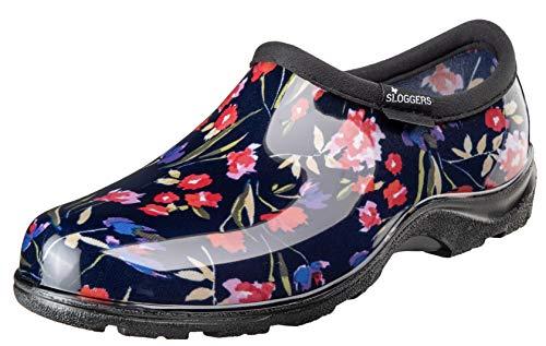 Sloggers 5119FCNV10 Wo's, Fresh Cut Navy sz 10 Waterproof Comfort Shoe (Garden Waterproof Sloggers)
