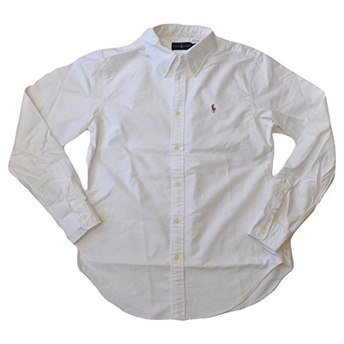 Polo Ralph Lauren Womens Classic Fit Oxford Button Down Shirt, White, S Boys Ralph Lauren Button
