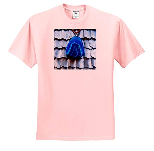 Alexis Photography - Objects Armor - Image of Blue Charm Decoration gem Against The Metal Scale Armor - T-Shirts - Light Pink Infant Lap-Shoulder Tee (24M) (ts_293998_73)