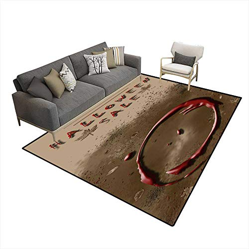 (Area Rugs for Bedroom Halloween Sale Festival Event Announcement Vertical Template in Spice Colors 6'x8' (W180cm x)